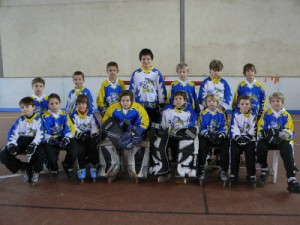 Photo équipe poussins Tigers Rochefort Roller Hockey