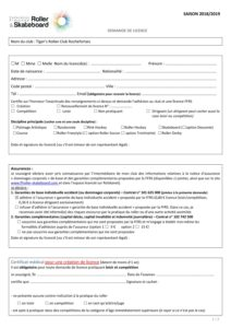 Demande de Licence 2018-2019
